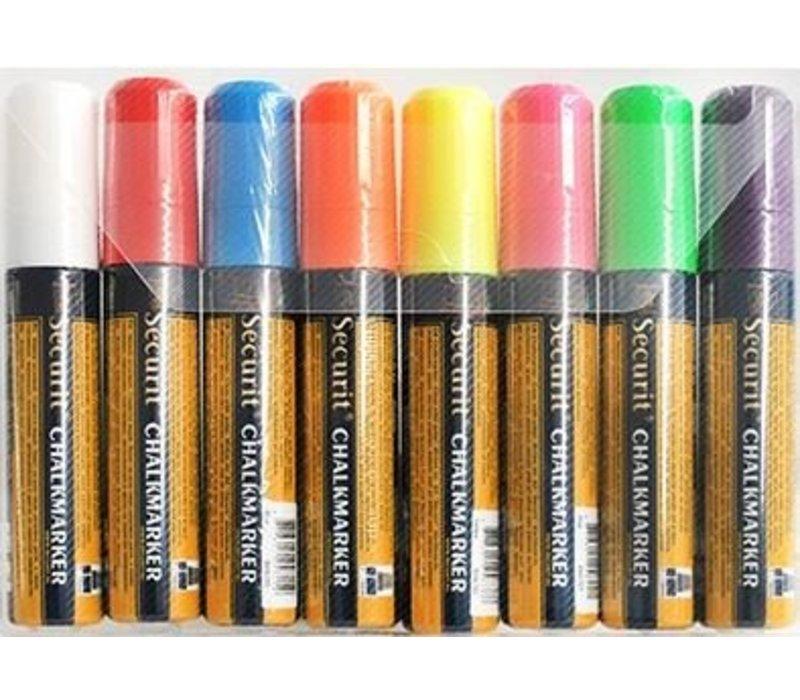 Securit Securit Thick Chalk Marker XXL - 8 Stück - Farbmischung - 15.7 mm