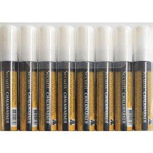 Securit Securit Thick Chalk Marker XXL - 8 Stück - Weiß - 15.7 mm