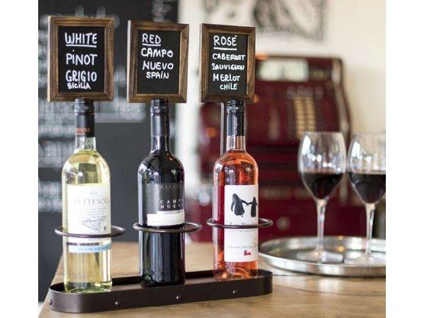 Securit Flaschenhalter-Tafel, 3 Flaschen