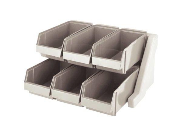 XXLselect Besteckbehälter mit 6 Abnehmbare Bins - Spülmaschinenfest - 511x488x (h) 241mm