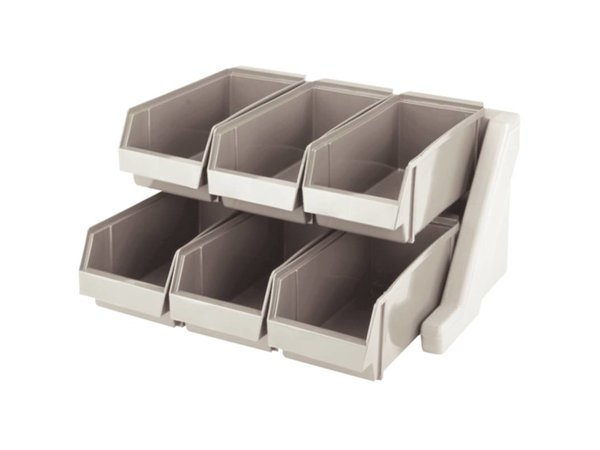 XXLselect Cutlery holder with 6 Removable Bins - Dishwasher safe - 511x488x (h) 241mm