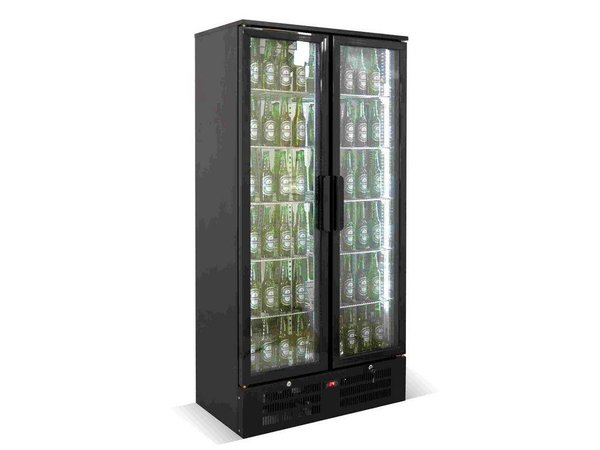 Combisteel Bar Kühlschrank Double Black Top - 458 Liter - 920x510x (h) 1800mm