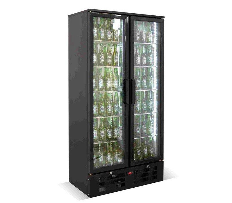 Combisteel Bar fridge Double Black Top - 458 Liter - 920x510x (h) 1800mm