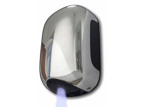 VAMA Handdroger MINI - Super Compact - Droogtijd 13 sec - Grijs of Chroom - 900W