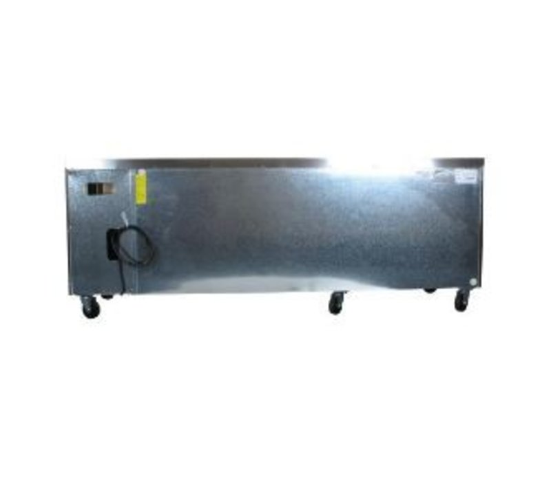Polar Chilled Workbench - SS - 4-Door - 223x70x (h) 85cm