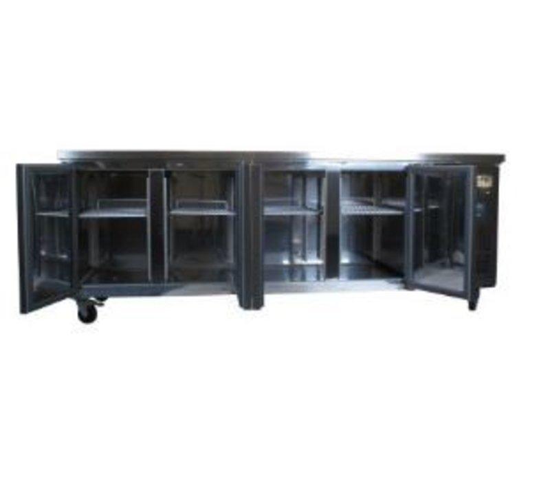 Polar Chilled Workbench - RVS - 4 Doors - 223x60x (h) 86cm
