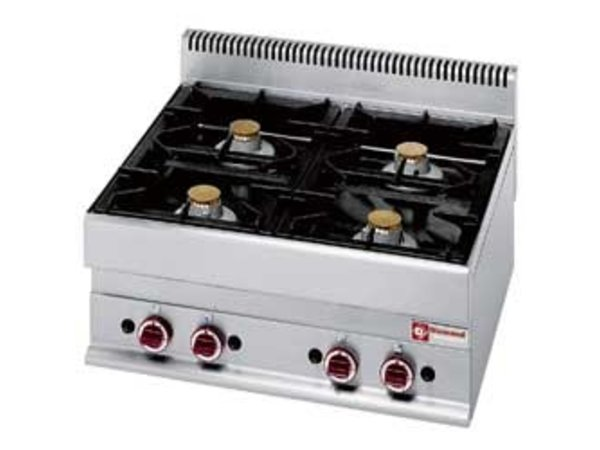 Diamond Tabletop stove | 4 burners | 5kw + 3,6kW | 700x650x (H) 280mm