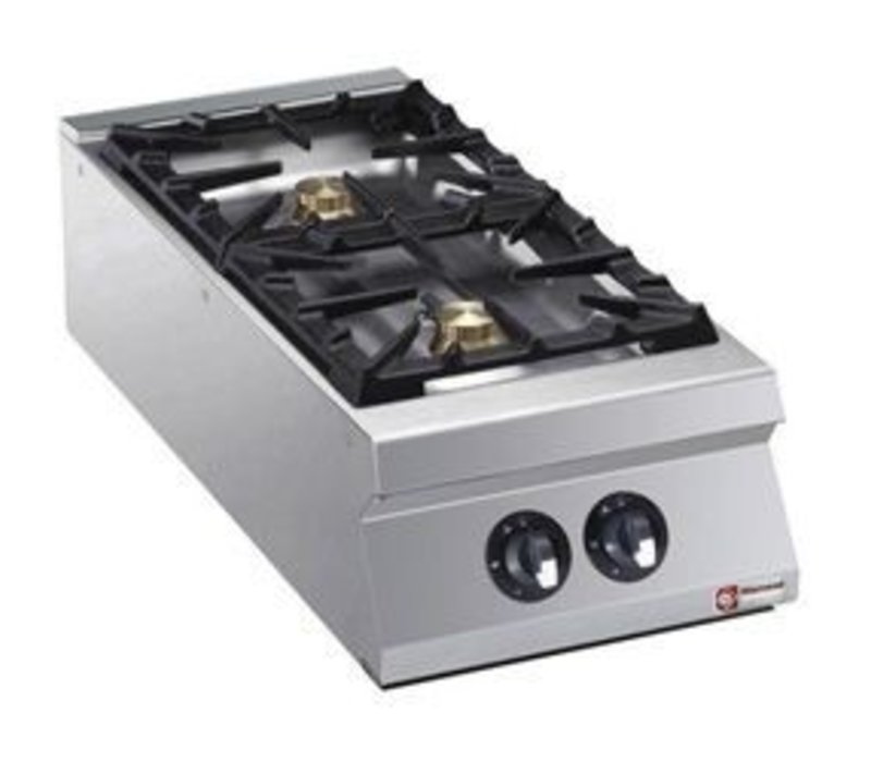 Diamond Tabletop stove | 2 burners | 6kw | 400x900x (H) 250mm