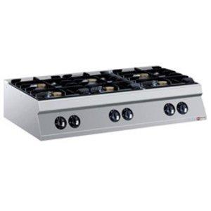 Diamond Tabletop stove | 6 burners | 6kw 10kw + | 1200x900x (H) 250mm