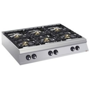 Diamond Tabletop stove | 6 burners | 10kw | 1200x900x (H) 250mm