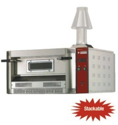 Diamond Pizza Oven Gas | Natural Gas & Propane | 4 pizzas Ø33cm | 14kW | 1060x970x (H) 500mm