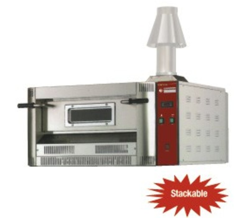Diamond Pizza Oven Gas | Natural Gas & Propane | 4 pizzas Ø33cm | 14kW | 1060x970x (H) 500mm