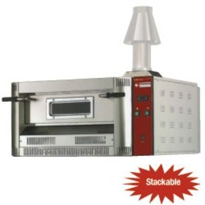 Diamond Pizza Oven Gas | Aardgas & Propaan | 6 Pizza's Ø33cm | 20Kw | 1060x1300x(H)500mm