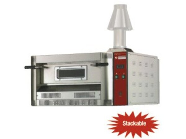 Diamond Pizza Oven Gas   Aardgas & Propaan   6 Pizza's Ø33cm   20Kw   1060x1300x(H)500mm
