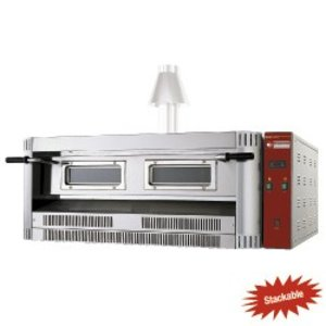 Diamond Pizza Oven Gas | 9 Pizza's Ø33cm | 24kW | 1390x1300x(H)500mm
