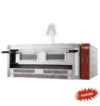 Diamond Pizza-Ofen Gas | Natural Gas & Propan | 9 Pizzen Ø33cm | 24kW | 1390x1300x (H) 500mm