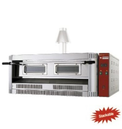 Diamond Pizza Oven Gas | Aardgas & Propaan | 9 Pizza's Ø33cm | 24kW | 1390x1300x(H)500mm