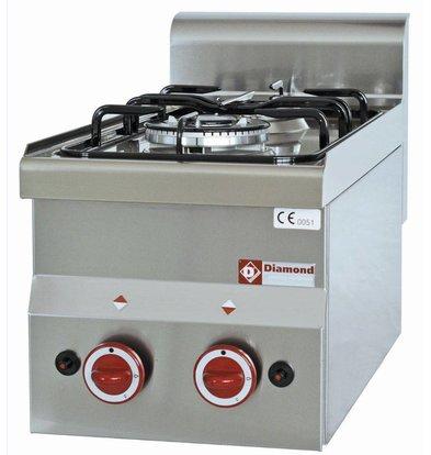 Diamond Tabletop stove - 2 burners - 3,3kw + 3,6kW - 300x600x (H) 280mm