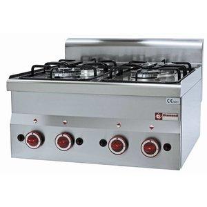 Diamond Tabletop stove | 4 burners | 3,3kw + 3,6kW | 600x600x (H) 280mm