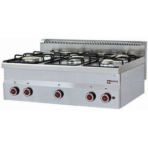 Diamond Tabletop stove | 5 burners | 3,3kw + 3,6kW | 900x600x (H) 280mm