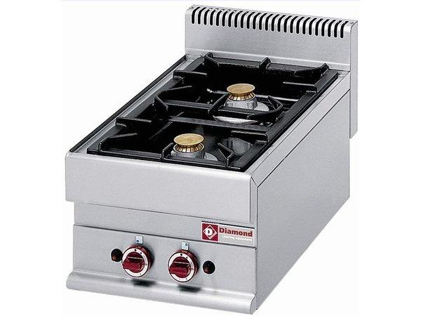 Diamond Tabletop stove   2 burners   5 kw + 3.6 kw   400x650x (H) 280mm