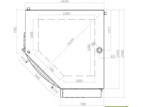 Diamond Corner Pizzaofen | 8 Pizzen Ø35cm | 400V | 11,7kW | 1420x1580x (H) 435mm