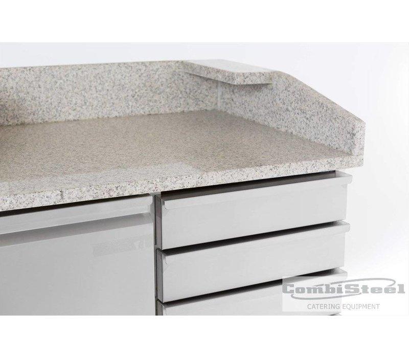 Combisteel Pizza Workbench - SS - 1 Türen und 6 Schubladen - 100x70x (h) 106cm