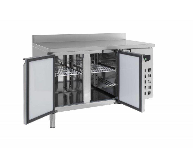 Combisteel Cool Workbench - SS - 2 door - Splash Ridge - 136x70x (h) 85cm