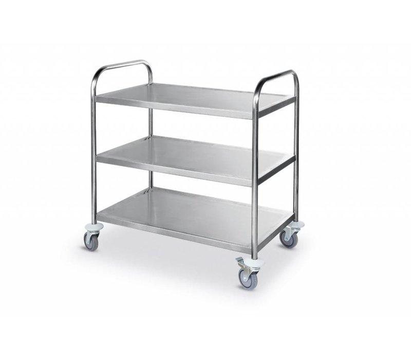 Hendi Serving trolley - three-layer - 900x590x (h) 930mm - 225kg - XXL OFFER!