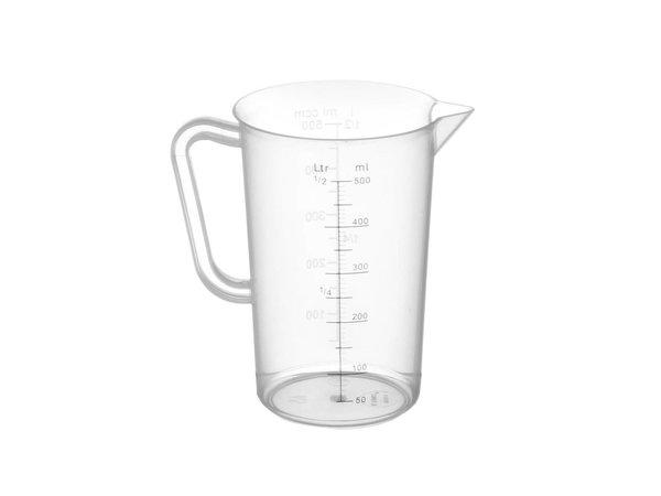 Hendi Measuring cup Plastic for Hospitality - Polypropylene - Ø90x140mm - 0.5 Liter