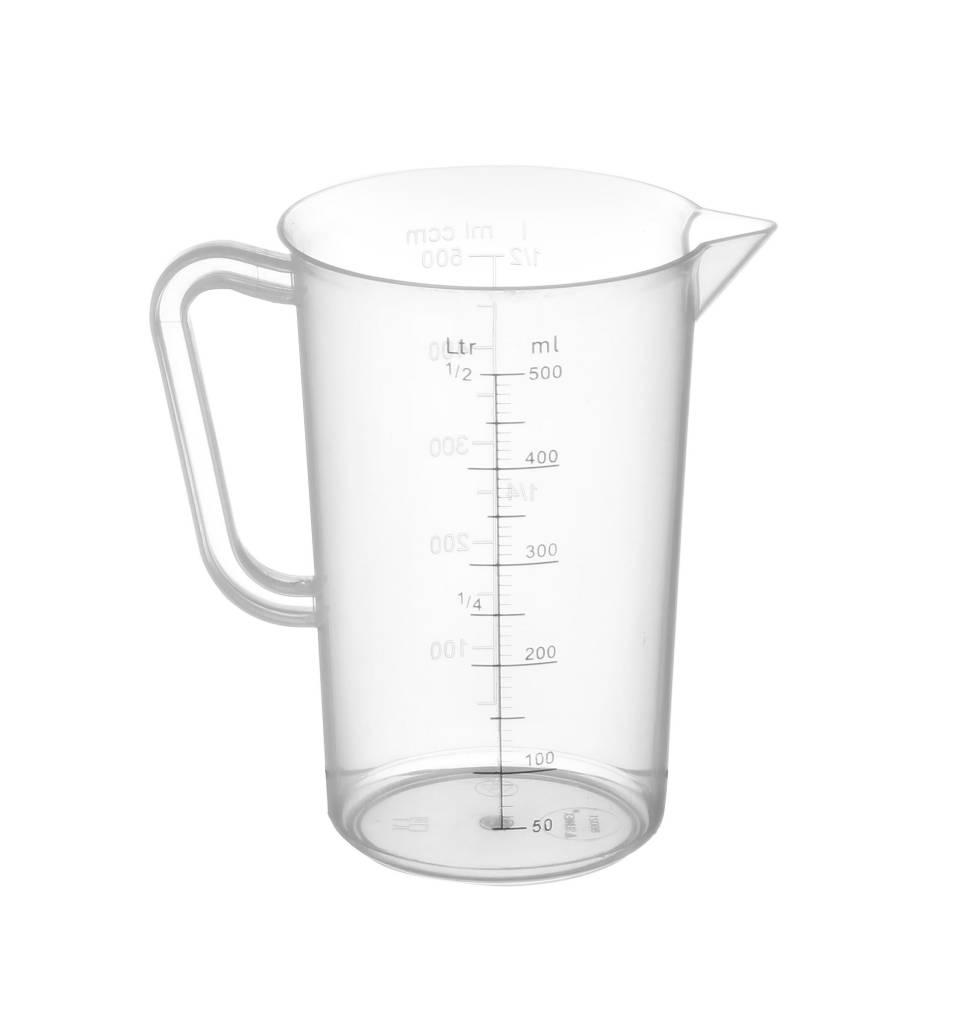 hendi measuring cup plastic for hospitality polypropylene 90x140mm 0 5 liter. Black Bedroom Furniture Sets. Home Design Ideas