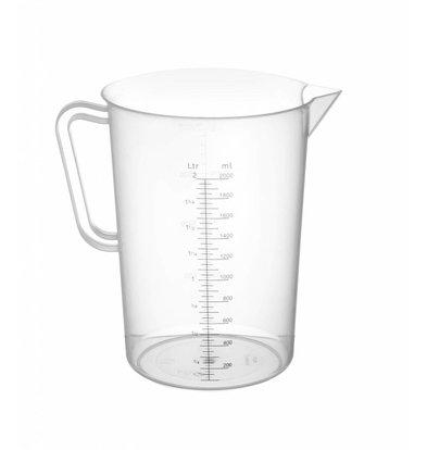 Hendi Messbecher aus Kunststoff für Hospitality - Polypropylen - Ø140x215mm - 2 Liter