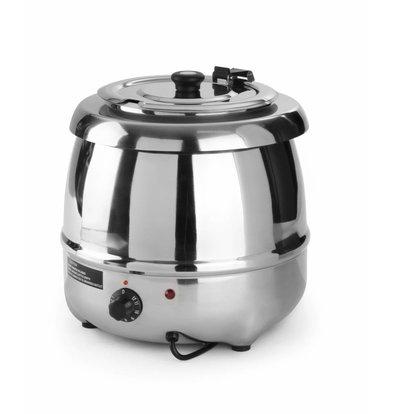 Hendi Elektrische Suppenkessel Edelstahl 8 Liter