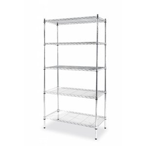 Hendi Storage rack chrome - 5 Shelves - 455x910x1840 mm