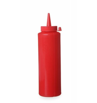 Hendi Dispenser Bottle Red | 20 cl | PE cap PC | 50x (H) 185mm