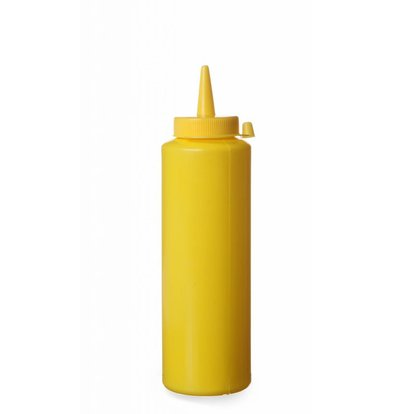 Hendi Dispenser bottle Yellow | 20 cl | PE cap PC | 50x (H) 185mm