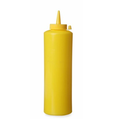 Hendi Dispenser bottle Yellow | 70 cl | PE cap PC | 70x (H) 240mm
