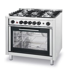 Hendi Stovetop five Pits + Electric Oven | 230V | 900x650x850 / 900mm