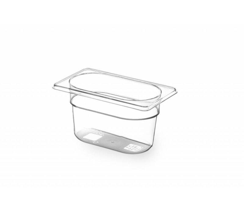 Hendi Gastronormbak 1/9 - 100 mm - BPA-frei Tritan