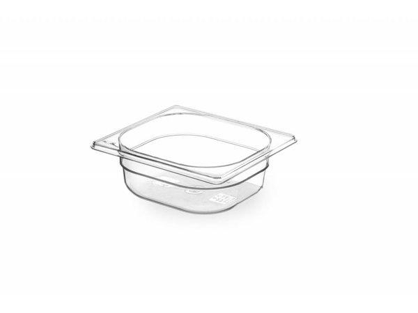 Hendi Gastronormbak sechsten - 65 mm - BPA-frei Tritan