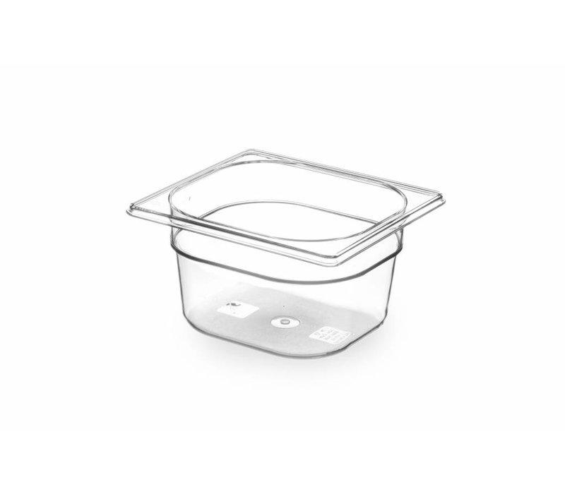 Hendi Gastronormbak sechsten - 100 mm - BPA-frei Tritan
