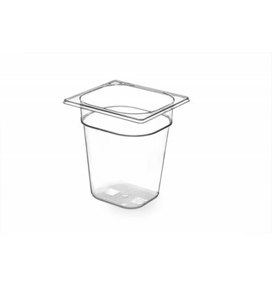 Hendi Gastronormbak sechsten - 200 mm - BPA-frei Tritan