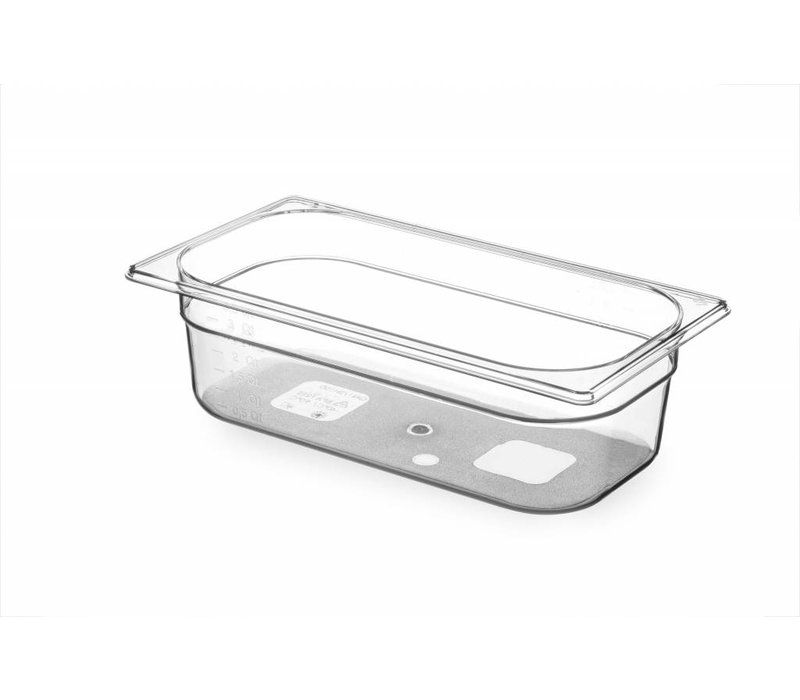 Hendi Gastronormbak 1/3 - 100 mm - BPA-free Tritan