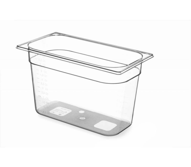 Hendi Gastronormbak 1/3 - 200 mm - BPA-free Tritan