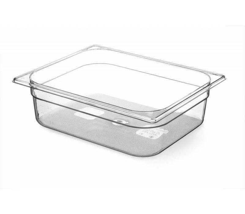 Hendi Gastronormbak Hälfte - 100 mm - BPA-frei Tritan