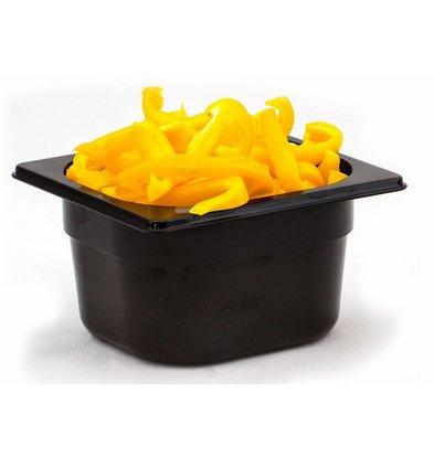 Hendi Gastronormbak sechsten - 65 mm - schwarz Polycarbonat