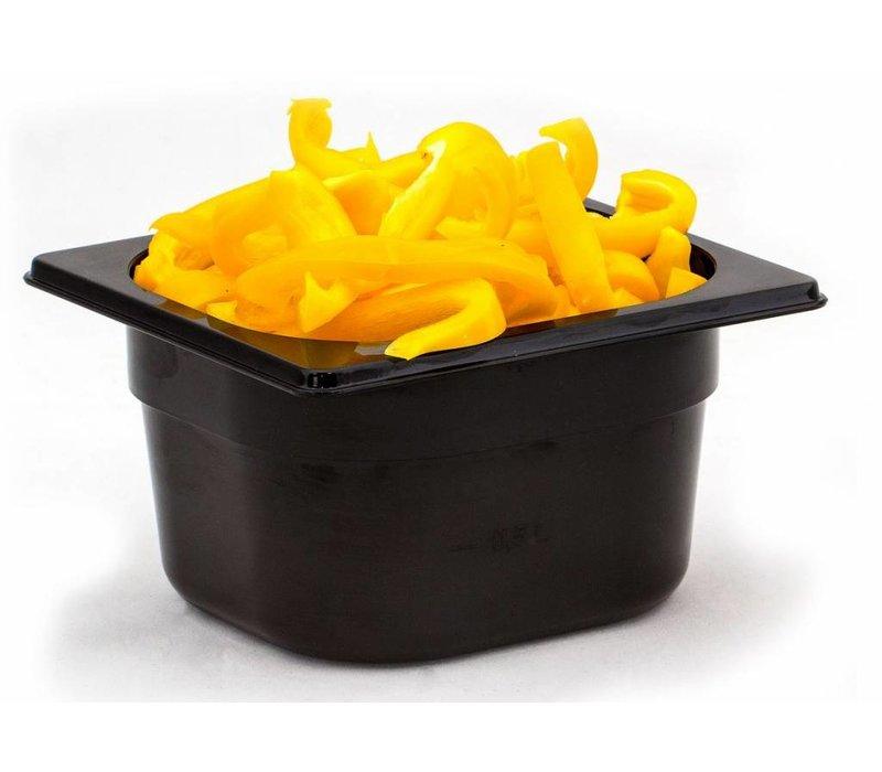 Hendi Gastronormbak sixth - 65 mm - black polycarbonate