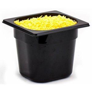 Hendi Gastronormbak sixth - 100 mm - black polycarbonate