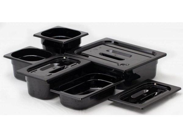 Hendi Gastronormbak 1/3 - 100 mm - zwart polycarbonaat