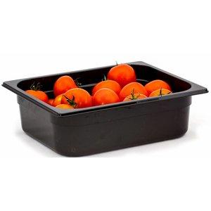 Hendi Gastronormbak Hälfte - 65 mm - schwarz Polycarbonat
